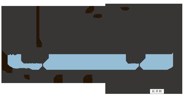 岐阜県下呂市萩原町にあるジークフリーダの案内図です。